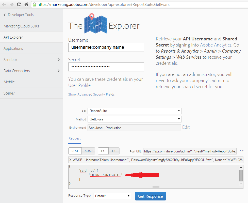 Using the Adobe Analytics API for Report Suite Configuration