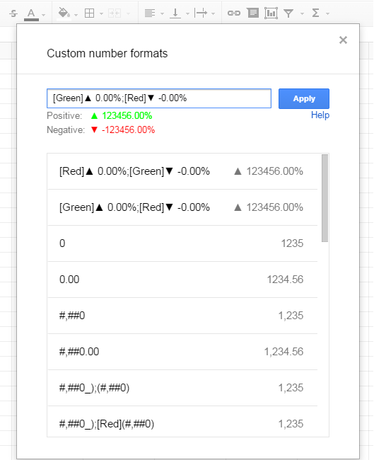 Format Percent Change Red & Green- Excel & Google Sheets for
