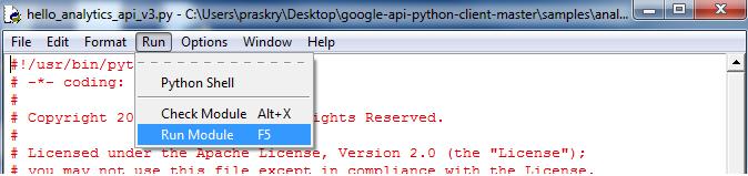 Google Analytics Reporting API Python Tutorial - ryanpraski com